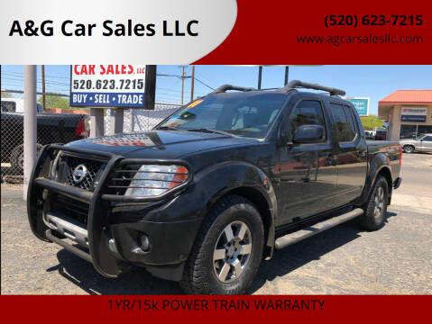 2011 Nissan Frontier for sale at A&G Car Sales  LLC in Tucson AZ