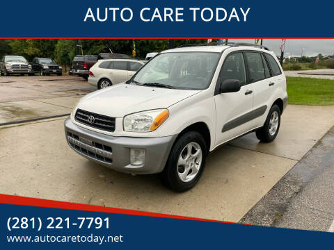 2003 Toyota RAV4 for sale at AUTO CARE TODAY in Spring TX