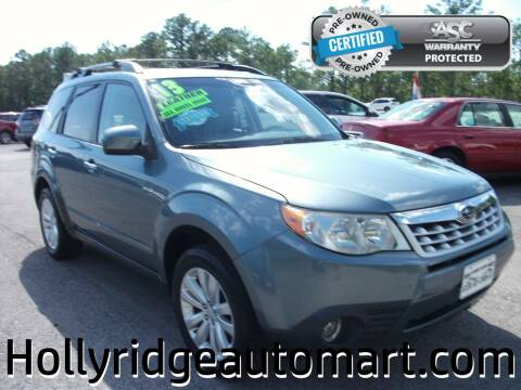 2013 Subaru Forester for sale at Holly Ridge Auto Mart in Holly Ridge NC