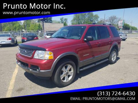 2004 Ford Explorer for sale at Prunto Motor Inc. in Dearborn MI