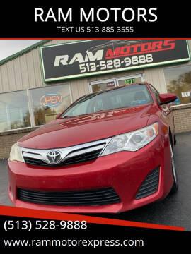 2012 Toyota Camry for sale at RAM MOTORS in Cincinnati OH