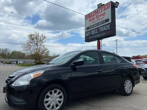 2016 Nissan Versa for sale at Unlimited Auto Group in West Chester OH