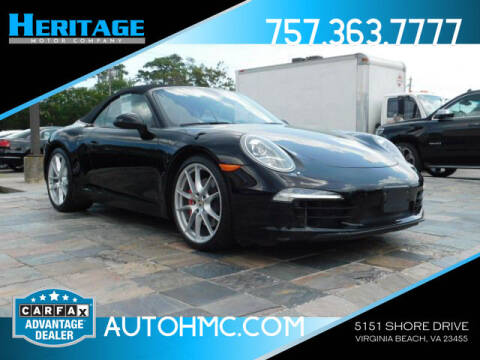 2013 Porsche 911 for sale at Heritage Motor Company in Virginia Beach VA