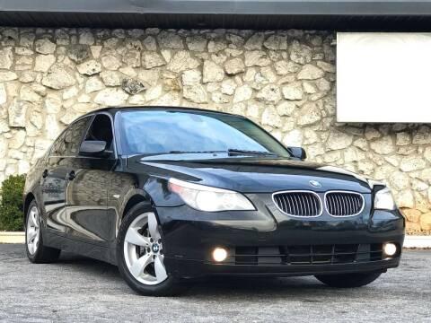 2007 BMW 5 Series for sale at ATLAS AUTOS in Marietta GA
