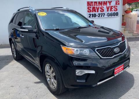 2012 Kia Sorento for sale at Manny G Motors in San Antonio TX