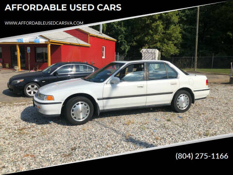 1992 Honda Accord for sale at AFFORDABLE USED CARS in Richmond VA