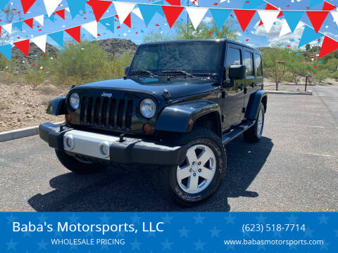 2012 Jeep Wrangler Unlimited for sale at Baba's Motorsports, LLC in Phoenix AZ