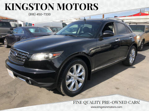 2008 Infiniti FX35 for sale at Kingston Motors in North Hollywood CA
