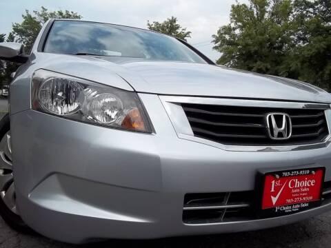 2010 Honda Accord for sale at 1st Choice Auto Sales in Fairfax VA