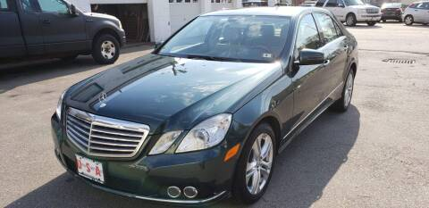 2010 Mercedes-Benz E-Class for sale at Union Street Auto in Manchester NH