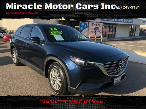 2016 Mazda CX-9 for sale at Miracle Motor Cars Inc. in Victorville CA