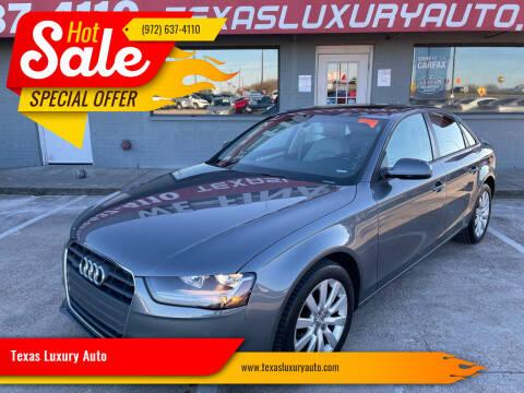 2014 Audi A4 for sale at Texas Luxury Auto in Cedar Hill TX