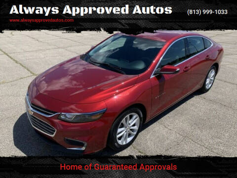 2018 Chevrolet Malibu for sale at Always Approved Autos in Tampa FL