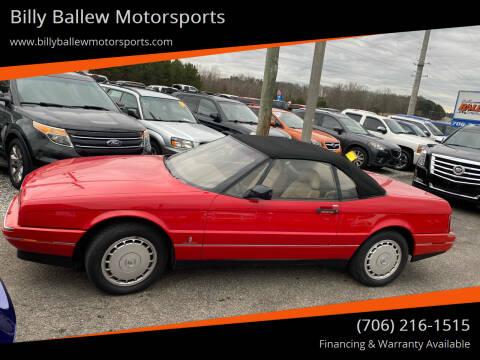 1991 Cadillac Allante for sale at Billy Ballew Motorsports in Dawsonville GA