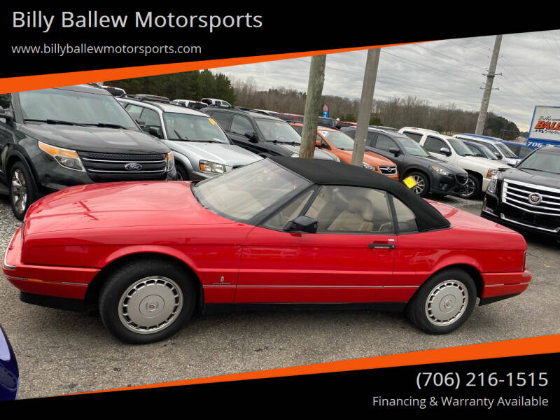 1991 Cadillac Allante for sale at Billy Ballew Motorsports in Dawsonville GA