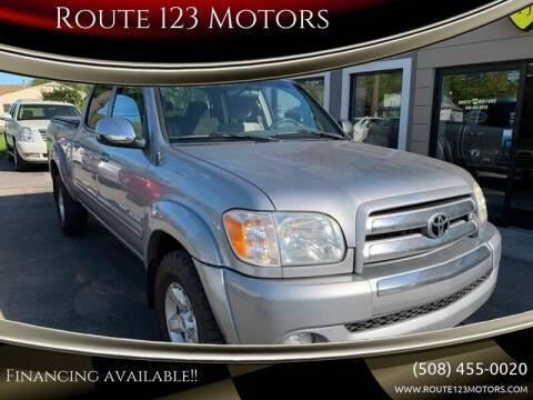 2006 Toyota Tundra for sale at Route 123 Motors in Norton MA