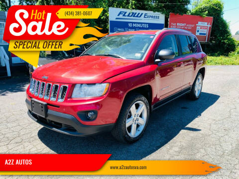 2012 Jeep Compass for sale at A2Z AUTOS in Charlottesville VA