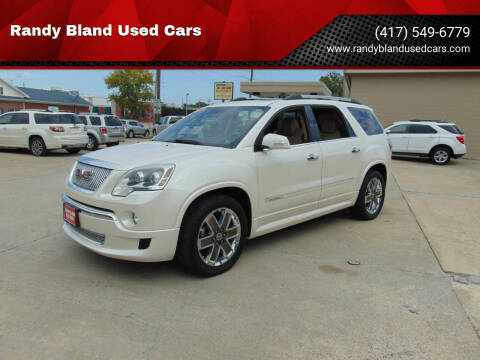 2012 GMC Acadia for sale at Randy Bland Used Cars in Nevada MO