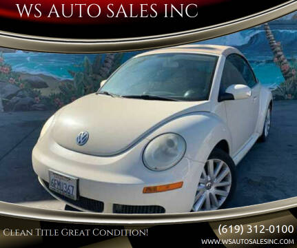 2008 Volkswagen New Beetle Convertible for sale at WS AUTO SALES INC in El Cajon CA
