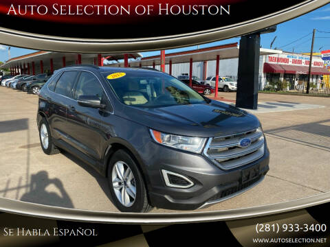 2015 Ford Edge for sale at Auto Selection of Houston in Houston TX