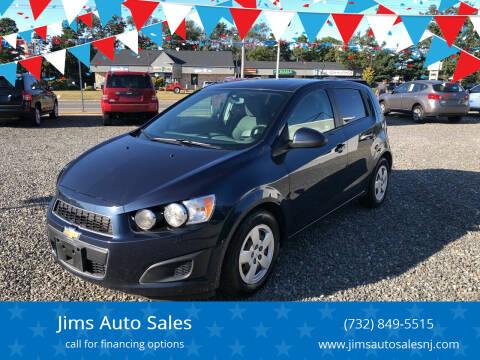 2016 Chevrolet Sonic for sale at Jims Auto Sales in Lakehurst NJ