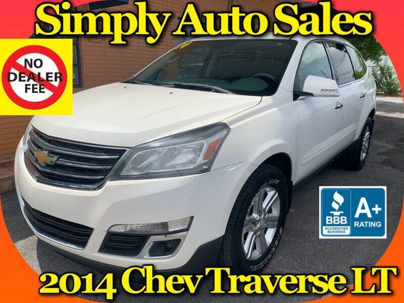 2014 Chevrolet Traverse for sale at Simply Auto Sales in Palm Beach Gardens FL