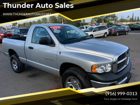 2003 Dodge Ram Pickup 1500 for sale at Thunder Auto Sales in Sacramento CA