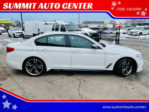 2019 BMW 5 Series for sale at SUMMIT AUTO CENTER in Summit IL