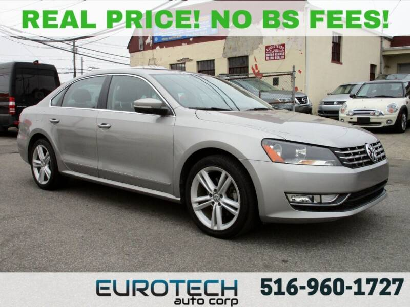 2013 Volkswagen Passat for sale at EUROTECH AUTO CORP in Island Park NY