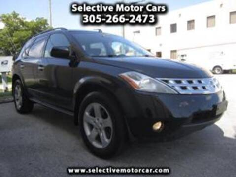 2006 Nissan Murano for sale at Selective Motor Cars in Miami FL