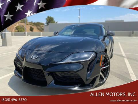 2020 Toyota GR Supra for sale at Allen Motors, Inc. in Thousand Oaks CA