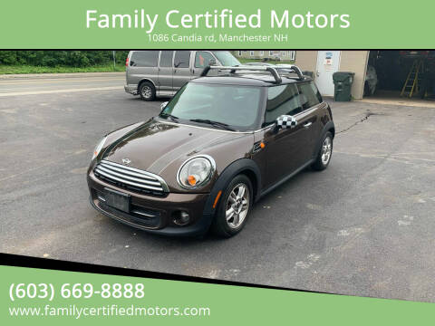 2012 MINI Cooper Hardtop for sale at Family Certified Motors in Manchester NH