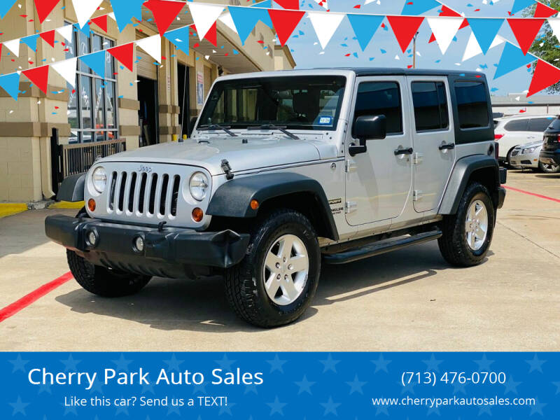 2012 Jeep Wrangler Unlimited for sale at Cherry Park Auto Sales in Houston TX