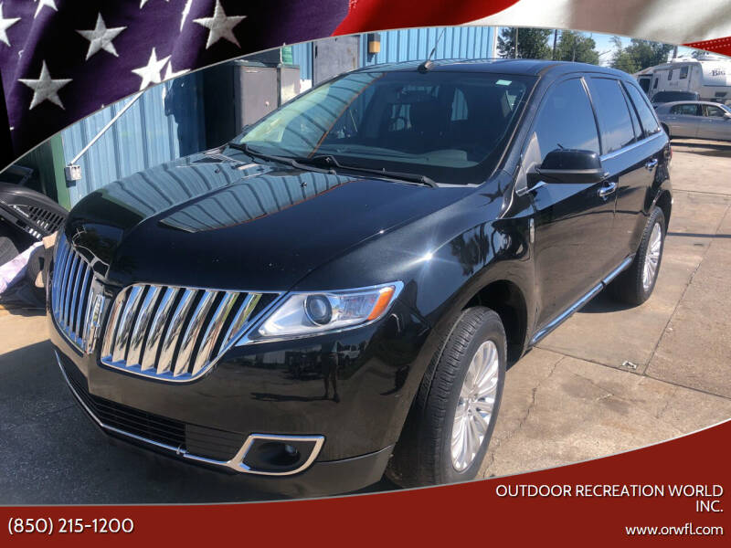 2013 Lincoln MKX for sale at Outdoor Recreation World Inc. in Panama City FL