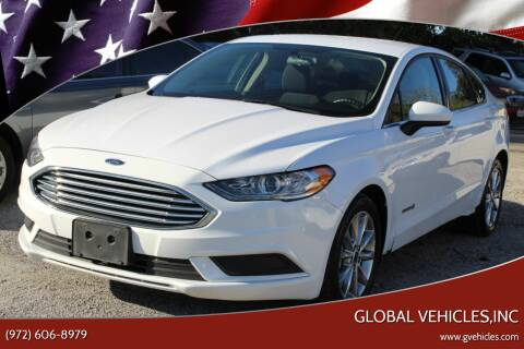 2017 Ford Fusion Hybrid for sale at Global Vehicles,Inc in Irving TX