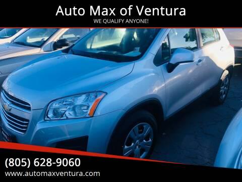 2016 Chevrolet Trax for sale at Auto Max of Ventura in Ventura CA