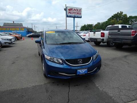 2014 Honda Civic for sale at Eagle Motors in Hamilton OH