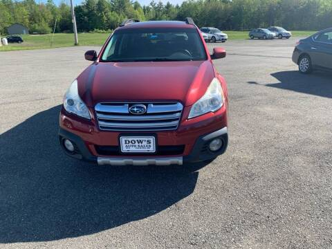 2013 Subaru Outback for sale at DOW'S AUTO SALES in Palmyra ME