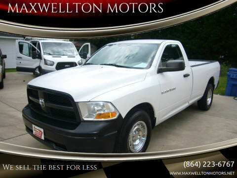 2012 RAM Ram Pickup 1500 for sale at MAXWELLTON MOTORS in Greenwood SC