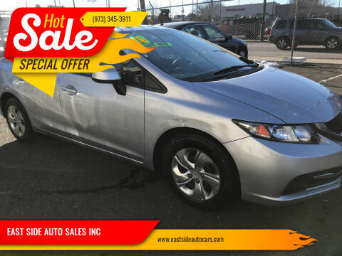 2013 Honda Civic for sale at EAST SIDE AUTO SALES INC in Paterson NJ