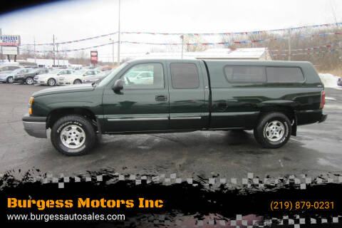 2004 Chevrolet Silverado 1500 for sale at Burgess Motors Inc in Michigan City IN