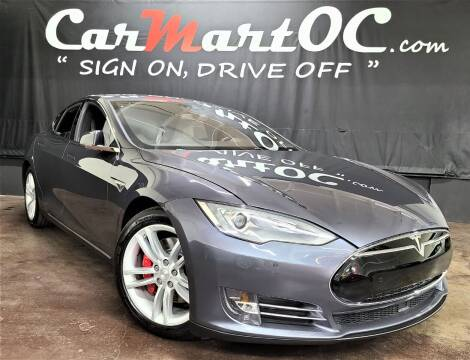 2014 Tesla Model S for sale at CarMart OC in Costa Mesa, Orange County CA