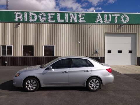 2010 Subaru Impreza for sale at RIDGELINE AUTO in Chubbuck ID