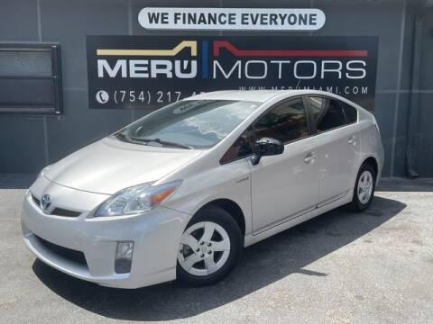 2010 Toyota Prius for sale at Meru Motors in Hollywood FL