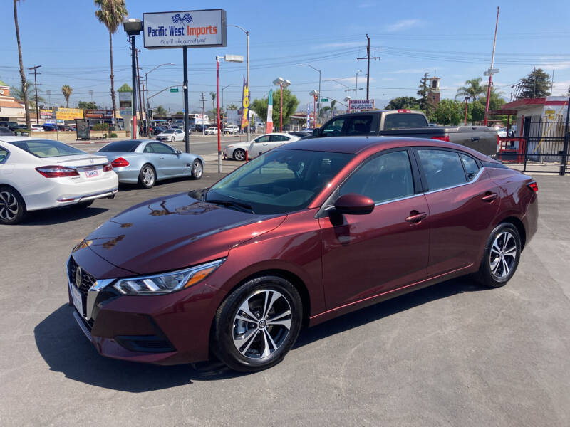 2021 Nissan Sentra for sale at Pacific West Imports in Los Angeles CA