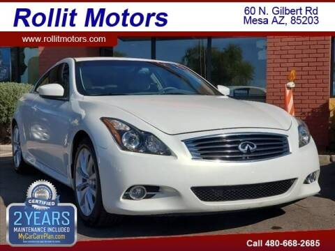 2011 Infiniti G37 Coupe for sale at Rollit Motors in Mesa AZ