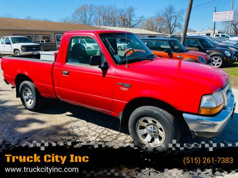2000 Ford Ranger for sale at Truck City Inc in Des Moines IA