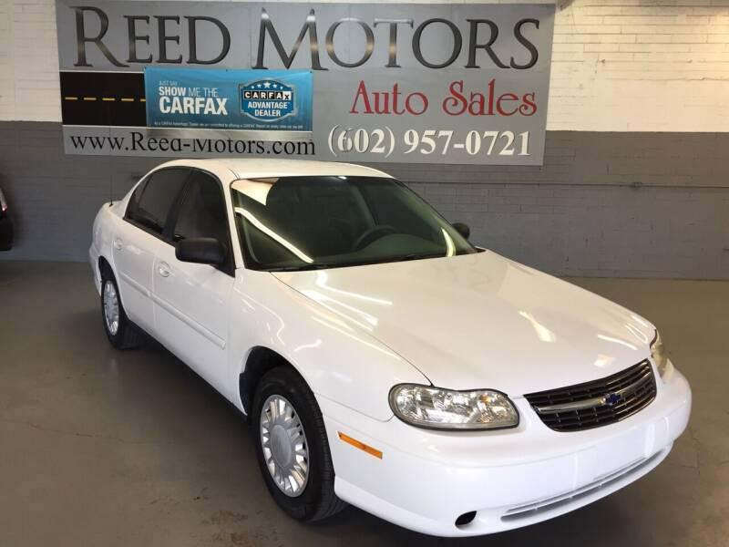 2003 Chevrolet Malibu for sale at REED MOTORS LLC in Phoenix AZ