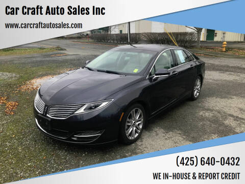 2013 Lincoln MKZ Hybrid for sale at Car Craft Auto Sales Inc in Lynnwood WA