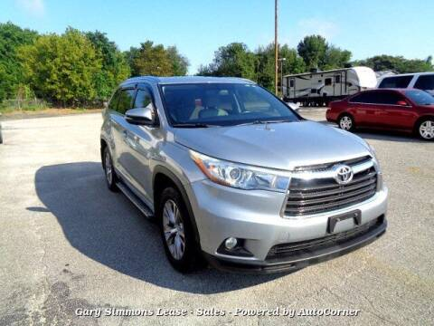 2015 Toyota Highlander for sale at Gary Simmons Lease - Sales in Mckenzie TN